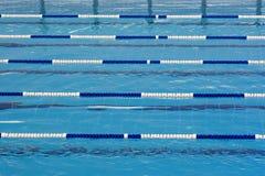 Swimming pool. Swimming blue pool Stock Photo