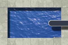 Swimming pool. Illustration with diving board Royalty Free Stock Photography