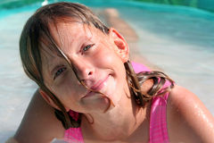 In the swimming pool Stock Image