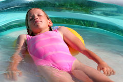 In the swimming pool Stock Photography