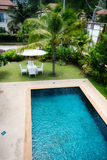 Swimming pool. Modern home with a large swimming pool Stock Photo