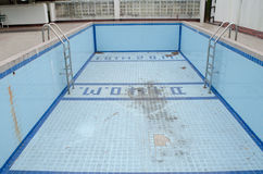 Swimming pool. Abandoned swimming pool in Thailand Stock Image