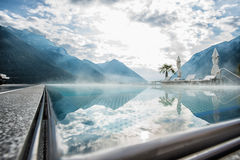 Swimming pool at Achensee Stock Images