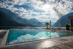 Swimming pool at Achensee Stock Photo