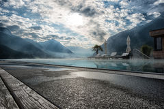 Swimming pool at Achensee Stock Photography