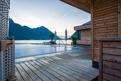 Swimming pool at Achensee Royalty Free Stock Photography