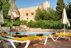 Swimming pool in Alvito castelo pousada Royalty Free Stock Photo