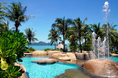 Swimming Pool And Beach Royalty Free Stock Photography