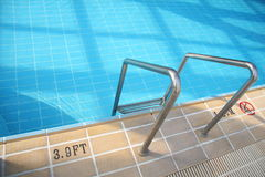 Swimming Pool And Depth Marking Royalty Free Stock Photos