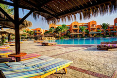 Swimming Pool And Resort In The Exotic Country. Stock Images