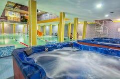 Swimming pool in aqua center Stock Photo
