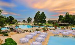 Swimming pool area Royalty Free Stock Photos