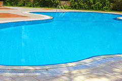 Swimming pool area in Antalya Stock Photos