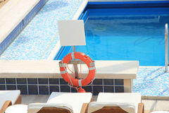 Swimming pool area at cruise ship Stock Photos