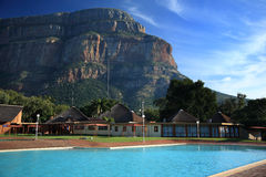 Swimming pool area at holiday resort in Swadini Stock Photography