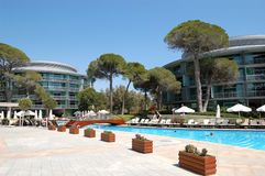 Swimming pool area at luxury Turkish hotel Stock Image