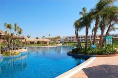 Swimming pool area at VIP villas. Sharm el Sheikh, Egypt Stock Photography