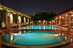 Free Swimming Pool At Night Stock Images - 3688634