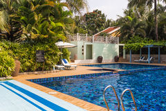 Free Swimming Pool At The Hotel Royalty Free Stock Images - 56999989