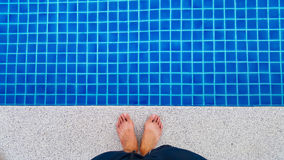 Swimming pool background in the morning Stock Image