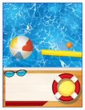 Swimming Pool Background Template Stock Photos