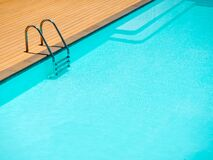 Free Swimming Pool Background With Ladder Minimal Style Stock Photos - 187833003