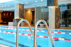 Swimming pool. Banisters in a swimming pool Stock Images