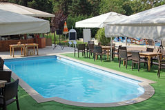 Swimming pool with bar Royalty Free Stock Photography