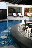 Swimming pool bar Stock Images