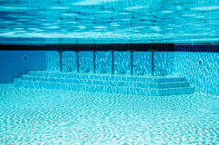 Swimming pool. Bar at the hotel. underwater view Royalty Free Stock Photos