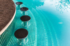 Swimming pool with bar Royalty Free Stock Images