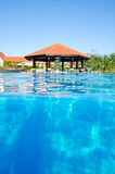 Swimming pool with bar, Vietnam Royalty Free Stock Photo