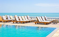 Swimming pool and beach Stock Photography