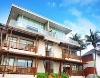Swimming pool at the beach luxury hotel Resort Kui Buri, Prachuap Khiri Khan,Thailand Stock Photos