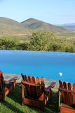 Swimming pool with beatifull view of Africa Royalty Free Stock Images