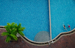 Swimming pool. beautiful blue swimming pool Stock Photo