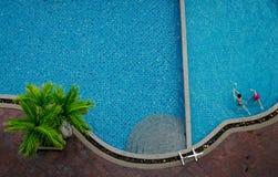 Swimming pool. beautiful blue swimming pool Stock Photo