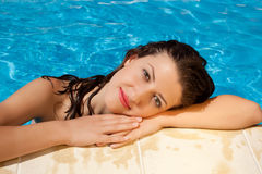 Swimming pool beauty Stock Photos