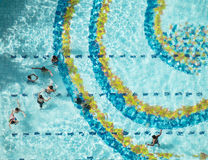 Swimming pool bird view view Stock Image
