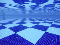 Swimming pool. Blue checker underwater swimming pool Royalty Free Stock Images