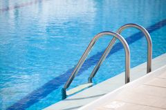 Swimming pool. With blue water Royalty Free Stock Images