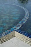 Swimming pool with blue water. Royalty Free Stock Photos
