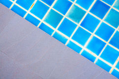 Swimming pool blue water Stock Photography
