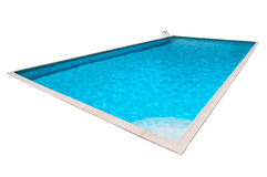 Swimming pool with blue water isolated Royalty Free Stock Images