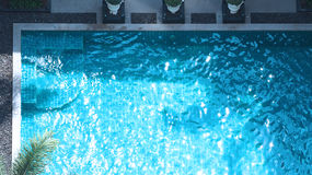 Swimming pool blue water. Royalty Free Stock Photo
