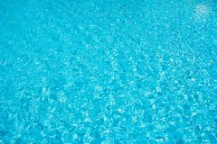 Swimming pool blue water surface Stock Photos
