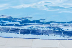 Swimming pool. Blue water pool surface top view Stock Images