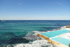 Swimming pool in Bondi Beach Royalty Free Stock Photo