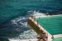 Swimming Pool at Bondi Beach in Sydney, Australia Royalty Free Stock Photo