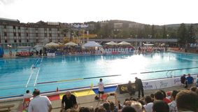 Swimming pool in Bor, Serbia. World water polo teams matches played in Bor, Serbia Stock Photos